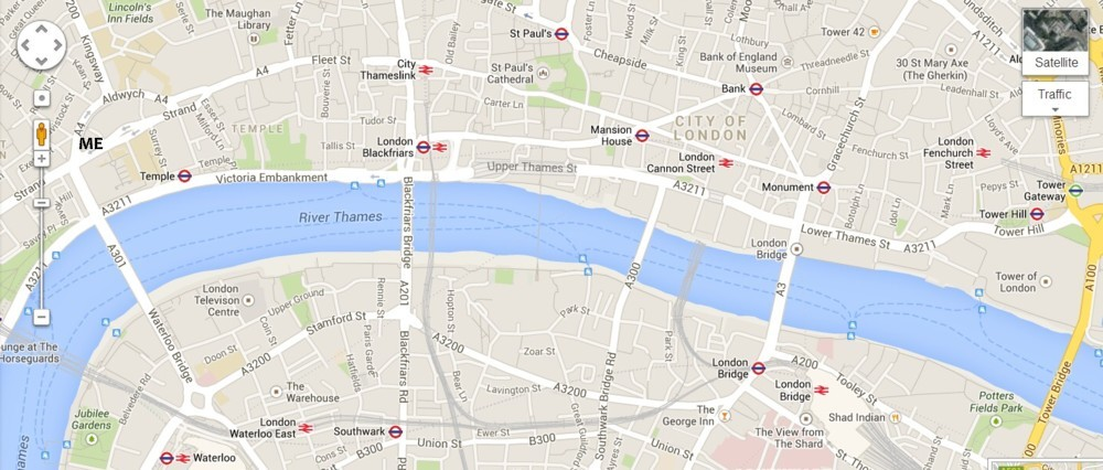 Map London Bridge.Brian Micklethwait