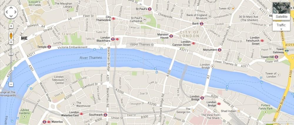 London Bridge Map.Brian Micklethwait