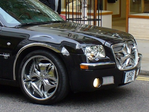 Chrysler 300 Black Rims. the wheels) on the front.